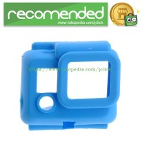Soft Rubber Silicone Case for Gopro HD Hero 3 - Blue