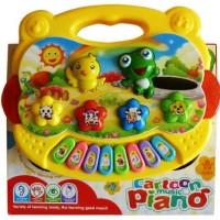 Mainan Anak - Cartoon Music Piano Lagu Binatang Keyboard Suara Hewan