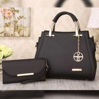 Grosir tas wanita murah import 2 in 1 Hand Bag/Shoulder Bag/dompet