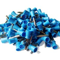Prophy Cups Latch Style Flat 6 web Blue