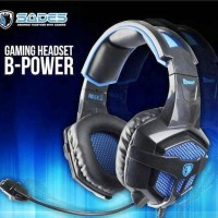 Jual Headset Gaming Sades SA-739 B Power Murah