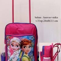 Jual Tas Frozen - Tas Troli / Trolley / Dorong Anak Sekolah Frozen Murah