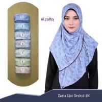 ELZATTA Zaria List Orchid SN Jilbab Instan Motif Kerudung Bergo Hijab