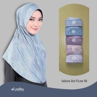 ELZATTA Sahara Dot Flow SB Jilbab Instan Motif | Kerudung Bergo Hijab