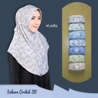 Jilbab Instan ELZATTA Sahara Orchid SB Hijab Serut Syari Bergo Motif