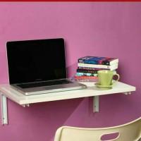 meja dinding, meja lipat, meja laptop, meja melayang, floating shelf