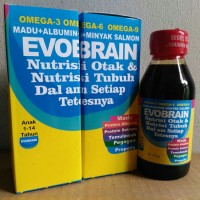 Evobrain / Evo Brain - Madu Albumin Minyak Ikan Salmon Omega 3 6 9