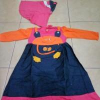 dress anak muslim pakaian bayi perempuan dres hijab baju gamis orange
