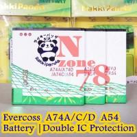 Baterai Cross Evercoss A74D A74C A74A A54 Rakkipanda Double Power