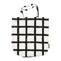 Ikea Treblad ~ Tas Kain Dengan Saku Dalam, Putih/Hitam   Bag