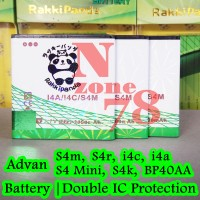 BATERAI ADVAN VANDROID BP-40AA S4M S4 MINI S4K RAKKIPANDA DOUBLE POWER