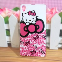 Sony Xperia Z1 - Softcase Custom Case Casing Cover Kartun Hello kitty
