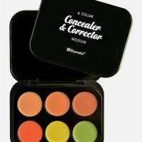 BH cosmetics concealer & corrector MEDIUM 6 color palette