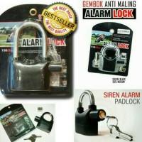 Gembok Alarm / Gembok Siren Alarm / SAFETY PADLOCK ALARM by KINBAR