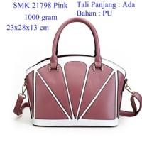 Tas Wanita Import SMK 21798 Pink, Tas Kerja Wanita, Tas Slingbags