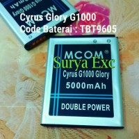 Baterai Battery Cyrus G1000 Glory Double Power