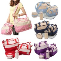 TAS PERLENGKAPAN YANG BAGUS BAYI 5 IN 1 Multifunction baby diaper bag