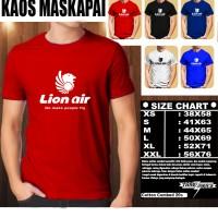 Kaos Logo Maskapai LION AIR/Baju Kaos Distro Baju T-Shirt Pesawat