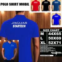 Polo Shirt Mobil Jaguar Startech Font/Baju Kaos Kerah Otomotif Mobil