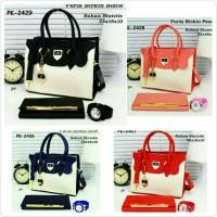 tas paket wanita murah / tas paket 3in1 / tas jam dompet / tas lokal