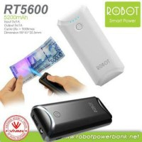 Jual Powerbank ROBOT 5200mAh Original RT5600 ada sinar pendeteksi uang asli Murah