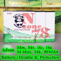 Baterai Advan S4r I4c I4a S4m S4 Mini S4k Bp40aa Double Power