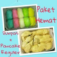 Jual PAKET HEMAT Durpas Pancake Reguler Isi 10 Durian Medan Duren Manis Murah