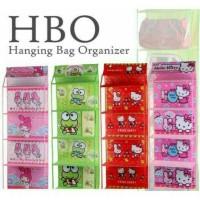 rak tas gantung resleting / HBO /HANGING BAG ORGANIZER