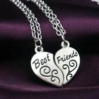 harga Kalung Persahabatan Best Friend Couple, Heart Ukir, Dapat Sepasang Tokopedia.com