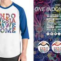Raglan One Indonesia Awesome 12 - Tshirt - Baju Kaos Distro Rivrez
