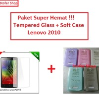 [PAKET] Softcase + Tempered Glass Lenovo 2010