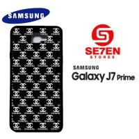 Casing HP Samsung J7 Prime black white channel Custom Hardcase Cover