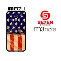 Casing HP MEIZU M3 NOTE American Flag 3 Custom Hardcase Cover