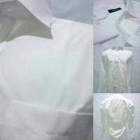 Kemeja Formal Pria Putih Polos Slim Fit merk TAKA-Q, JAPAN. Original