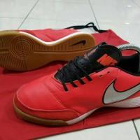 sepatu futsal nike tiempo x genio leather merah ic grade ori import