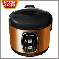 Magic Com Rice Cooker Yong Ma MC 3150 - Stainless Body - 2 L - Brown S