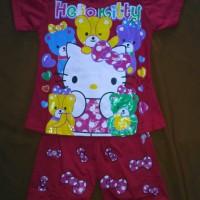 Jual Baju Setelan Anak Perempuan Hello Kitty Usia 3 tahun Murah