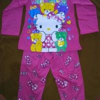 Jual Baju Lengan Panjang Anak Perempuan Hello Kitty usia 5-6, 7 & 8 tahun Murah