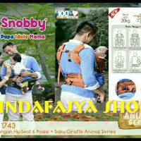 Jual hipseat snobby 6in1/hiprest snobby animal series/gendongan bayi/snooby Murah