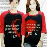 Kaos Kimono Couple Merah / Kaos Couple