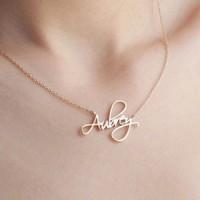 Kalung Nama Emas Muda Asli Unik Ukiran Cantik |Kalung Korea |Hadiah