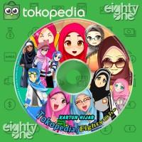 Kartun Hijab Masa Kini untuk Bahan Desain Promosi