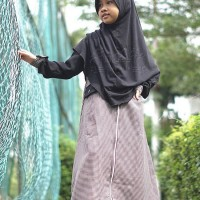 Hijab Alila Kids - Gamis Zippy Kids Oreo ( Size 8 ) Diskon