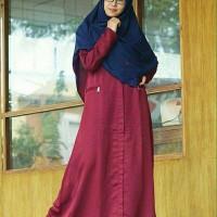 Hijab Alila - Gamis Aqeela Deep Maroon Diskon