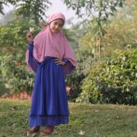 Hijab Alila Kids - Gamis Neo Perdana Kids Biru Elektrik Diskon