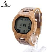 Jual BOBO BIRD A13 Bamboo Wooden LED Digital Watches / Jam Tangan Pria Kayu Murah