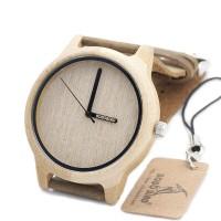 Wooden Watch/Jam Tangan Kayu BOBO BIRD A22 Bamboo Wood Miyota Japanese