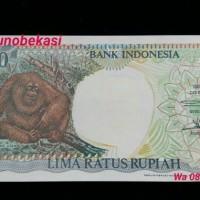 Jual uang kuno Rp 500 rupiah monyet orang utan mahar nikah jadul lama 1992 Murah