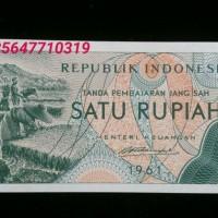 Jual uang kuno lama jadul 1 rp / 1 rupiah 1961 mahar nikah unik Murah