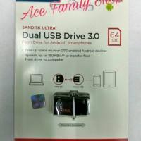 SANDISK FLASHDISK OTG 64GB USB 3.0 / OTG FLASHDISK 64GB USB 3.0 RESMI.